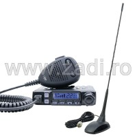 Pachet statie radio CB PNI Escort HP 7120 ASQ, RF Gain, 4W, 12V si antena CB PNI Extra 48 cu magnet inclus, 45cm, SWR 1.0