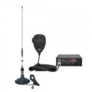 Kit Statie radio CB PNI Escort HP 8000l + Antena CB PNI ML70 cu magnet