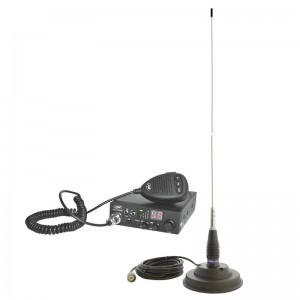 Kit Statie radio CB PNI Escort HP 8000L ASQ + Antena CB PNI ML145 cu magnet