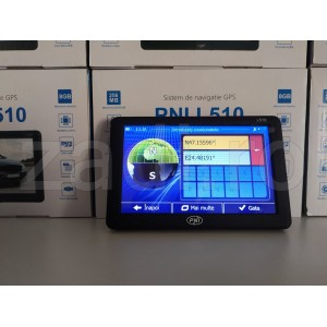 Sistem de navigatie GPS PNI L510 ecran 5 inch, 800 MHz, 256M DDR3, 8GB memorie interna, FM transmitter - 4 programe instalate auto si camion