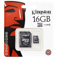 Card de memorie microSDHC  kINGSTONE 16GB  cu adaptor SD