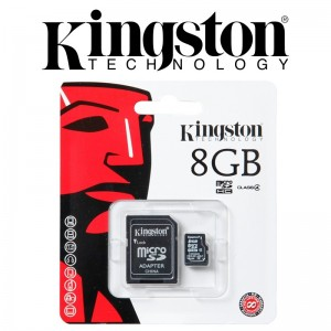 Card de memorie microSDHC  kINGSTONE 8GB  cu adaptor SD