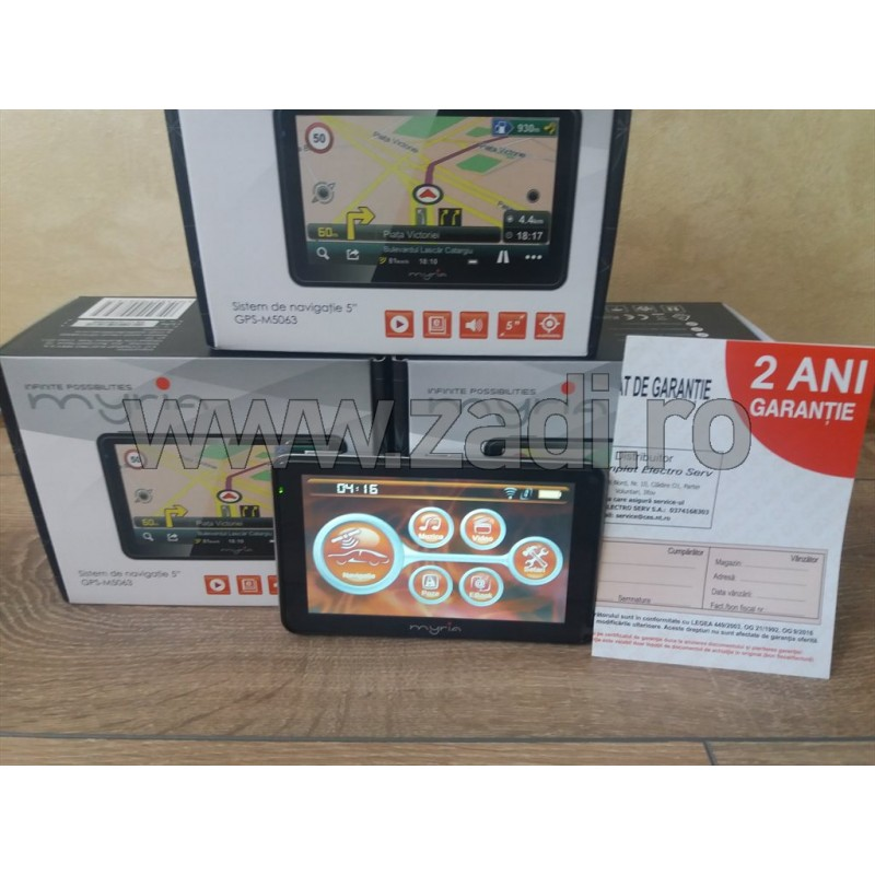 Sistem de navigatie MYRIA GPS-M5063, LCD, 5inch, harti instalate - Full Europa - auto+camion
