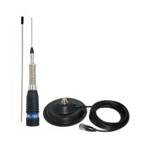 Antena CB PNI ML160 lungime 155 cm cu magnet 145 mm inclus
