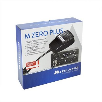 Statie auto radio CB Midland M Zero Plus, squelch manual , 40 canale AM/FM